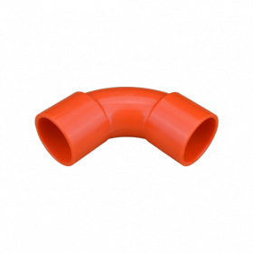 25mm Orange Solid Elbow